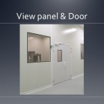Cleanroom view panel and door