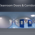 Cleanroom doors and corridors