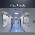 Cleanroom view panels