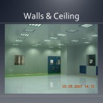 Cleanroom walls and ceiling