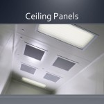 Cleanroom ceiling panels
