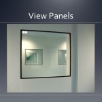 Cleanroom view panel