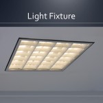 Cleanroom light fixture