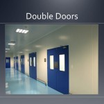 Cleanroom double doors