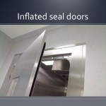 Cleanroom inflated seal doors