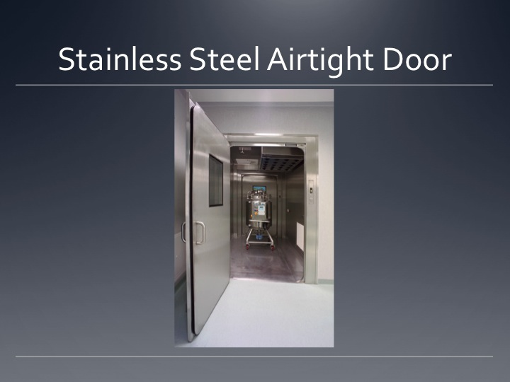 ... Cleanroom Stainless Steel Airtight Door ...