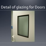 Cleanroom glazing for doors