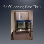 Cleanroom self cleaning pass thru